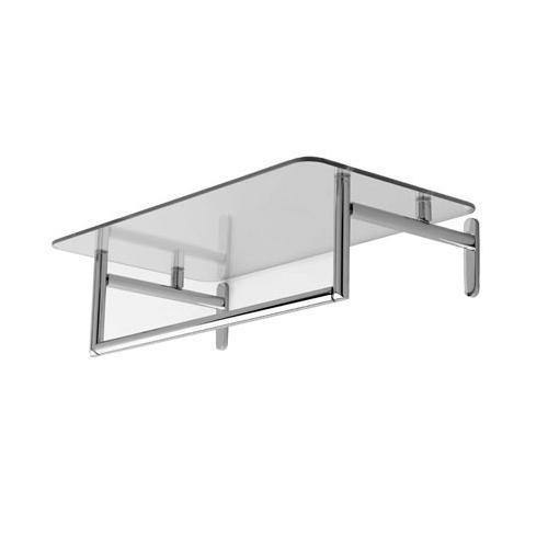 """Polished Chrome 24"""" Hotel Shelf with Towel Bar"""