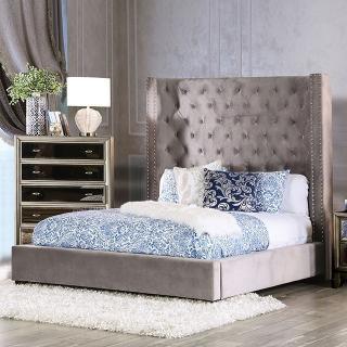 Mirabelle Grey Queen Bed