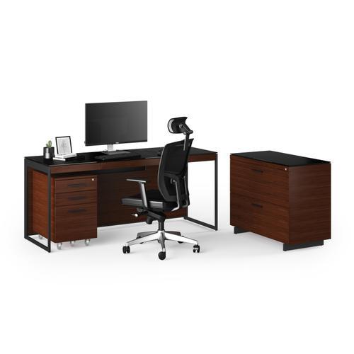 BDI Furniture - Sequel 20 6116 Lateral File Cabinet in Chocolate Walnut Black