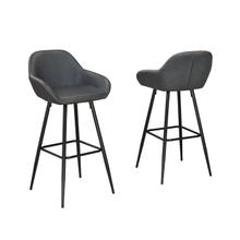 See Details - Alexis Vintage Grey 26' Bar Chair (bar Stool Set of 2 )