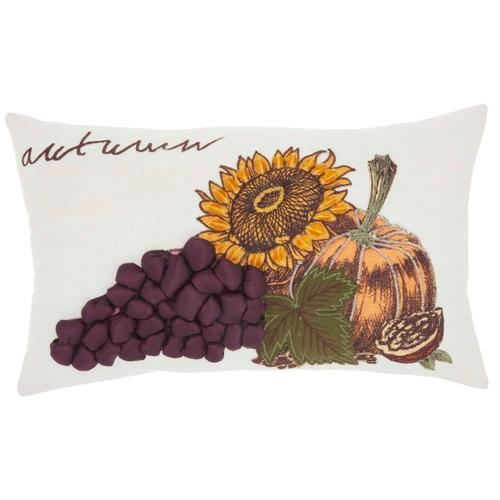 "Home for the Holiday St509 Multicolor 12"" X 20"" Throw Pillow"