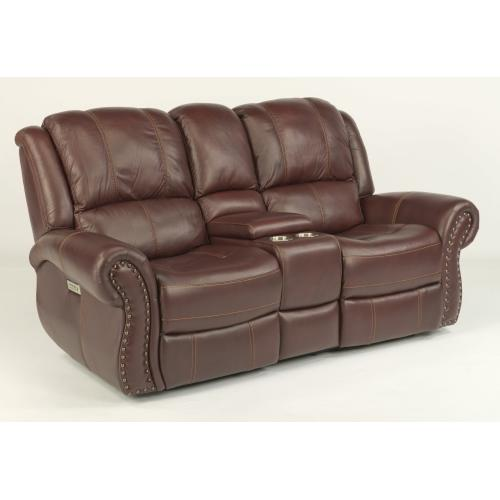 Patton Power Reclining Loveseat with Console & Power Headrests