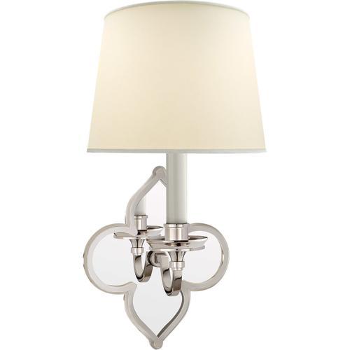 Alexa Hampton Lana 1 Light 7 inch Polished Nickel Decorative Wall Light
