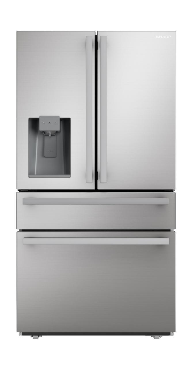 SharpSharp French 4-Door Counter-Depth Refrigerator With Water Dispenser