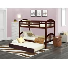 West Furniture Verona Twin Bunk Bed in Java Finish with Convertible Trundle & Drawer