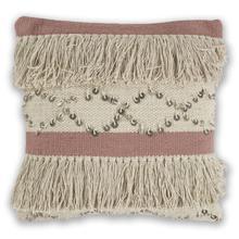 "See Details - Pillow L336 Ivory/blush Treasure 18"" X 18"""