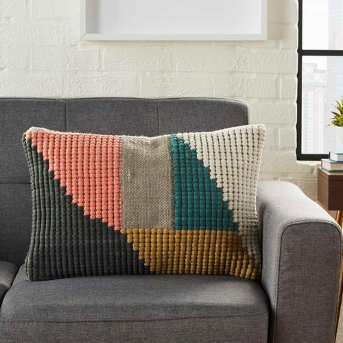 """Life Styles Rn027 Multicolor 14"""" X 20"""" Throw Pillow"""