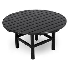 "Black Round 38"" Conversation Table"