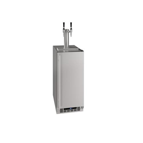 """U-Line - 15"""" Nitro Infused Cold Coffee Dispenser With Stainless Solid Finish (115 V/60 Hz Volts /60 Hz Hz)"""