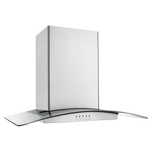 36 inch Convertible Glass Kitchen Range Hood with Quiet Partner Blower
