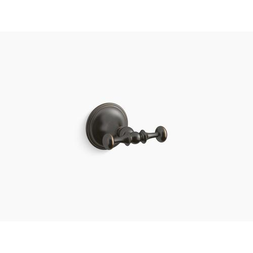 Oil-rubbed Bronze Double Robe Hook