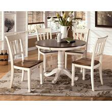 Whitesburg - Brown/Cottage White Dining Room Table and 4 Chairs