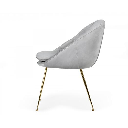 VIG Furniture - Modrest Fenton - Modern Light Grey Velvet and Gold dining Chair