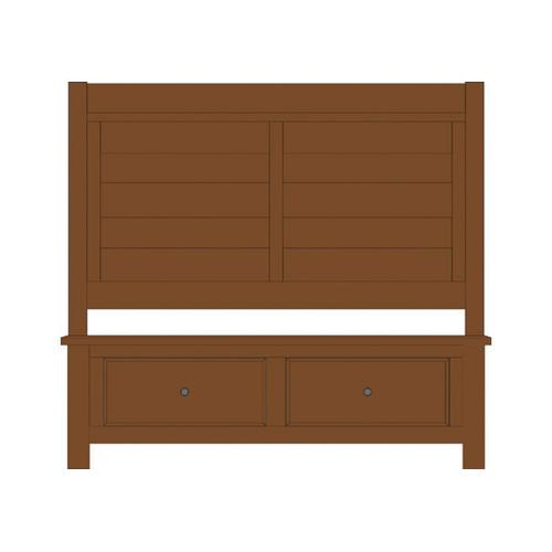 Artisan & Post Solid Wood - Queen Sleigh bed with Footboard Storage