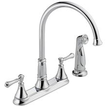 Chrome Two Handle Kitchen Faucet with Spray