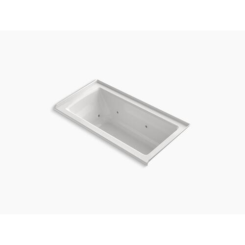 "Biscuit 60"" X 30"" Three-side Integral Flange Whirlpool With Heater and Right-hand Drain"