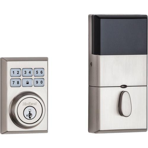 Kwikset - 910 SmartCode Contemporary Electronic Deadbolt with Zigbee Technology - Satin Nickel