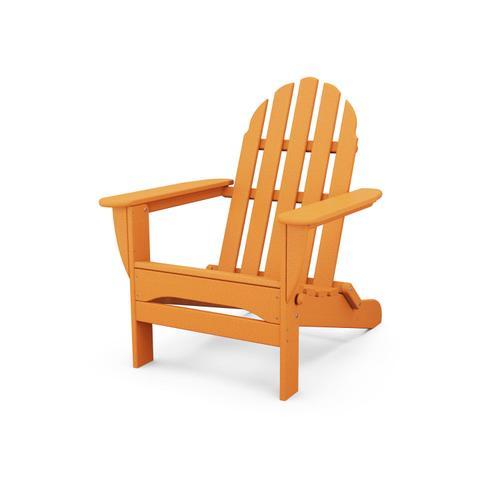Tangerine Classic Folding Adirondack Chair