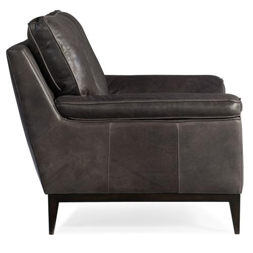 Living Room Kandor Leather Stationary Chair