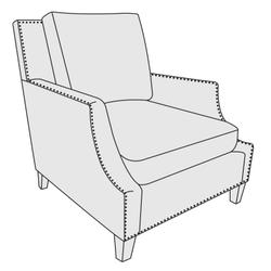 Crawford Chair in Mocha (751)