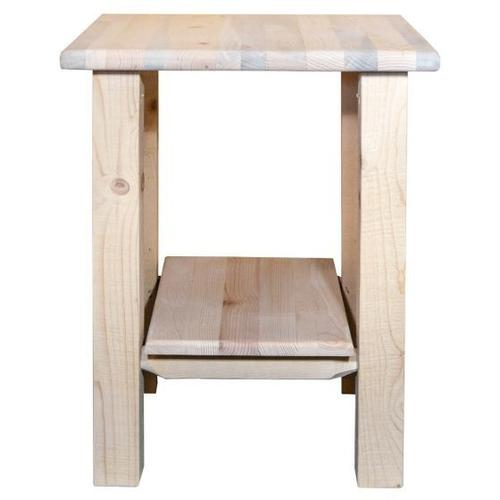 Montana Woodworks - Homestead Collection Nightstand With Shelf