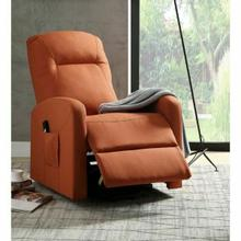 ACME Kasia Recliner w/Power Lift - 59459 - Orange Linen