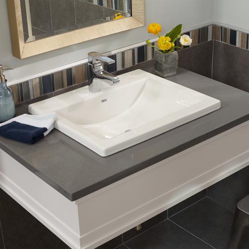 American Standard - Studio Drop-in Bathroom Sink - American Standard - White