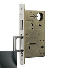 Oil-Rubbed Bronze 8602 Pocket Door Lock with Pull