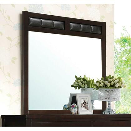 See Details - Carlton Black Upholstered Dresser Mirror