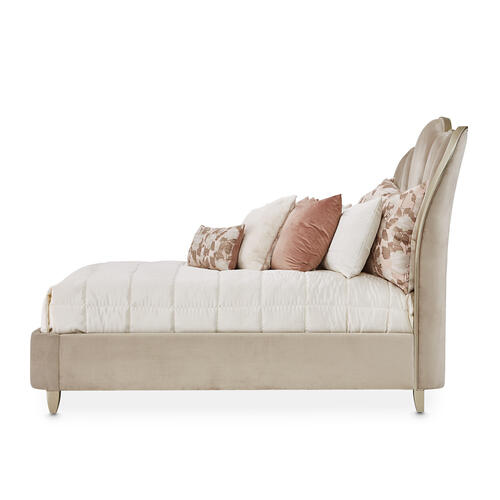 Queen Channel-tufted Upholstered Bed (3 Pc)