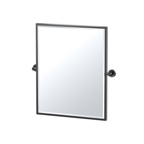 Glam Framed Rectangle Mirror in Matte Black