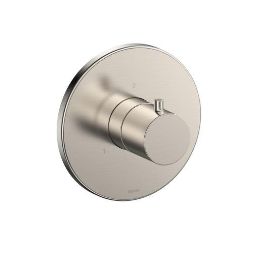 Two-way Diverter Trim - Round - Brushed Nickel