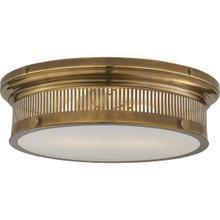 E. F. Chapman Alderly 2 Light 16 inch Antique Burnished Brass Flush Mount Ceiling Light in Antique-Burnished Brass