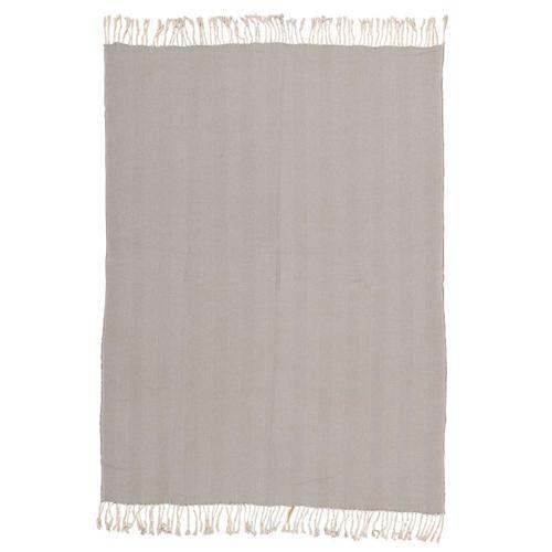 "Nourison Rugs - Throw Sz008 Grey 50"" X 70"" Throw Blanket"