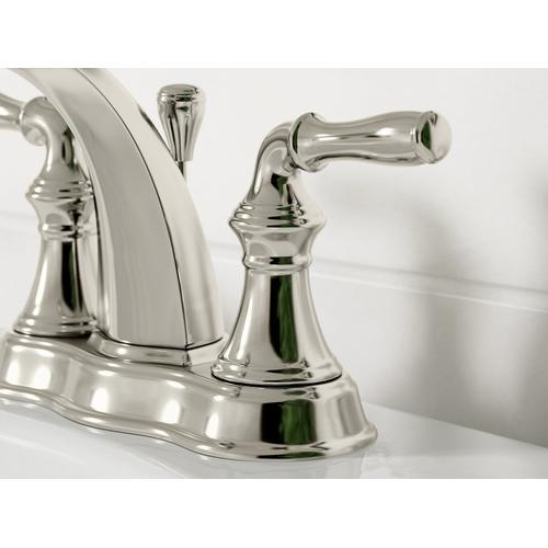 Vibrant Brushed Nickel Centerset Bathroom Sink Faucet
