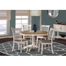 Bayberry 5pc Round Dining Set, White