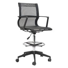 View Product - Stacy Drafter Office Chair Black Mesh