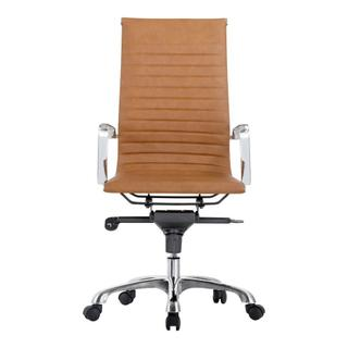 See Details - Omega Swivel Office Chair High Back Tan