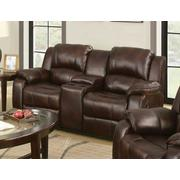 ACME Zanthe Loveseat w/Console (Motion) - 50513 - Brown Polished Microfiber Product Image