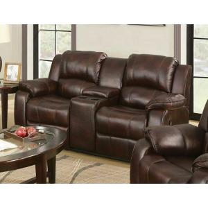 ACME Zanthe Loveseat w/Console (Motion) - 50513 - Brown Polished Microfiber