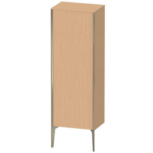 Duravit - Semi-tall Cabinet Floorstanding, Brushed Oak (real Wood Veneer)