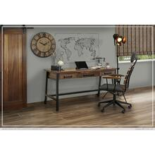 See Details - Desk w/USB Connector, 3 Doors On Top & Iron Base