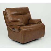 Saddle Power Gliding Recliner with Power Headrest