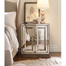 View Product - Sanctuary Two-Door Mirrored Nightstand - Visage