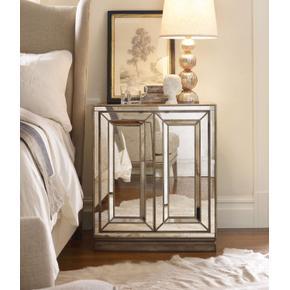Sanctuary Two-Door Mirrored Nightstand - Visage