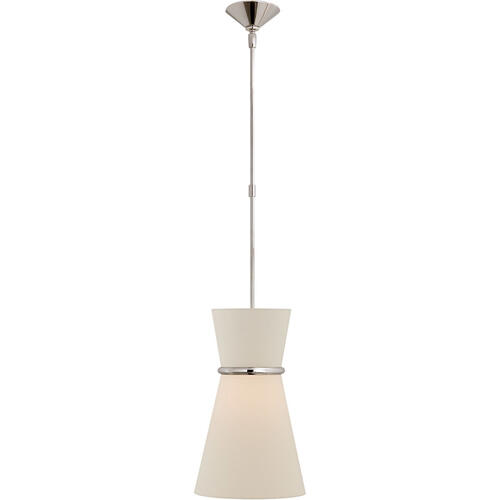 AERIN Clarkson 2 Light 10 inch Polished Nickel Single Pendant Ceiling Light, Small
