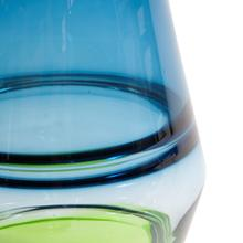 View Product - Blue and Green Glass Vase, Small