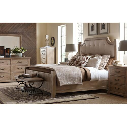 Monteverdi by Rachael Ray Complete Upholstered Low Post Bed, King 6/6