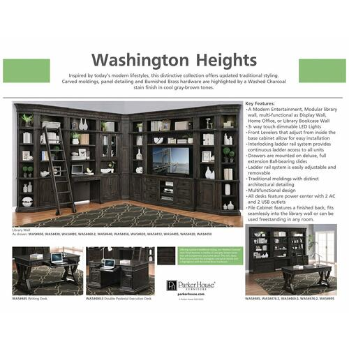 Parker House - WASHINGTON HEIGHTS 66 in. TV Console with Hutch