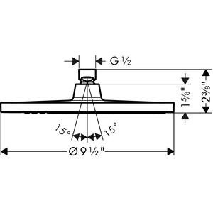 Brushed Nickel Showerhead 240 1-Jet, 2.0 GPM